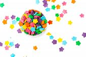 picture of jimmy  - Many colourful candy on a white background - JPG