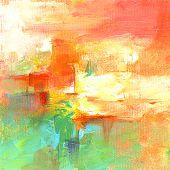 Red Green Orange Ocher Yellow White Wall Art, Acrylic Painting, ,handmade Art, Handpainted Fine Art, poster