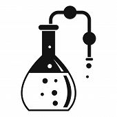 Pipe Lab Flask Icon. Simple Illustration Of Pipe Lab Flask Vector Icon For Web Design Isolated On Wh poster