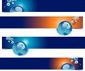 Globe Web Banners