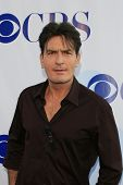 LOS ANGELES - JULY 19: Charlie Sheen arriving at the CBS Summer Press Tour Stars Party 2007 at the W