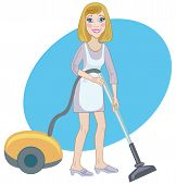 Housemaid With A Vacuum Cleaner