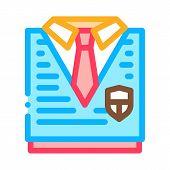 Academy Uniform Concept Icon Vector. Outline Academy Uniform Concept Sign. Isolated Contour Symbol I poster