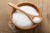 stock photo of crystal salt  - sea salt - JPG