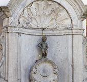 Manneken Pis, closeup view of statue in Brussels