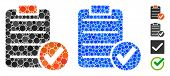 Apply Form Composition Of Round Dots In Variable Sizes And Color Tones, Based On Apply Form Icon. Ve poster