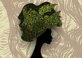 African Wedding Hairstyle Head Wrap, Colorful Head Scarf, Beautiful Portrait Afro Woman In Tradition poster