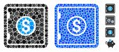 Banking Safe Mosaic Of Round Dots In Various Sizes And Color Tints, Based On Banking Safe Icon. Vect poster
