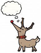 stock photo of rudolf  - funny cartoon reindeer - JPG