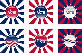 Buttons For American Elections