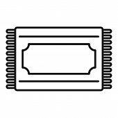 Muslim Prayer Mat Icon. Outline Muslim Prayer Mat Vector Icon For Web Design Isolated On White Backg poster