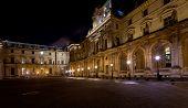 Palais Des Arts Of Louvre, Paris At Night