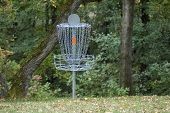 Disc Golf Basket And Woods