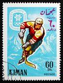 Postage Stamp Ajman 1967 Ice Hockey, Winter Olympics