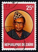 Postage Stamp Zaire 1978 Joseph D. Mobutu, President