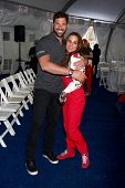 LOS ANGELES - APR 9:  Maksim Chmerkovskiy, Kate del Castillo at the Toyota ProCeleb Race Press Day 2
