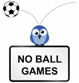 Ball games sign
