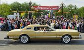 IRKUTSK, RUSSIA - JUNE,2 2012: The parade on the streets of Irkutsk in honor of the City Day in June