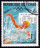 Postage Stamp Chad 1975 Roland Matthes, Swimmer