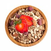 Muesli And Strawberry