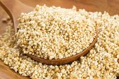 stock photo of cereal bowl  - Amaranth popping gluten - JPG