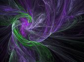 Smoky Purple And Green Spiral