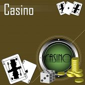 picture of poker machine  - Abstract colorful illustration with metallic circle - JPG