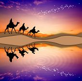 Magi Kings Following The Star Of Bethlehem