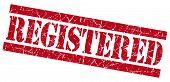 Registered Grunge Red Stamp