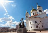 Russia, Samara - April 24: Cathedral Of Cyril And Methodius On A Sunny Day April 24, 2011 In Samara,