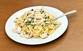 Calamari Shrimp Pasta Dish