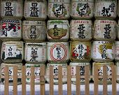 Sake Offerings Near Kasuga Taisha Shrine  In Nara, Japan.