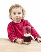 Young Girl Drinking Root Beer