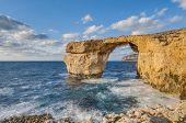 Azure Window In Gozo Island, Malta.