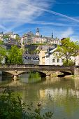 Alzette River In Luxembourg