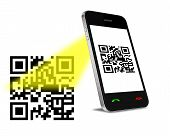Qr Code On Mobil Phone