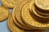 image of twenty dollars  - Few old golden coins - JPG