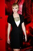 NEW YORK-NOV 20; Actress Jennifer Lawrence attends the 'Hunger Games: Catching Fire' premiere at AMC