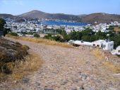 Ancient Cobblestone Road To Greek City