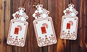 Three Christmas Cards With Smart Phone Sticker