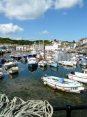 Mevagissey Harbour In Cornwall England