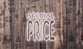 Wooden Special Price Label With Presents