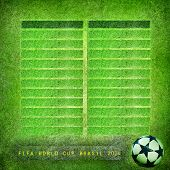 Grunge background Brazil 2014, FIFA World Cup