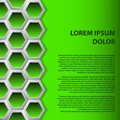 Green Hexagons Brochure Background
