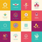 foto of butterfly  - Set of flat icons for beauty - JPG