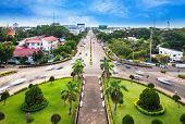foto of chan  - View from the top of Patuxai or Victory Gate or Gate of Triumph - JPG