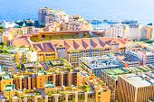 View Of Monaco And The Stadium Louis-ii