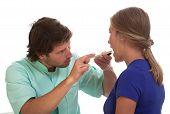 Laryngologist Examining His Patient