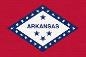Arkansas state flag of America, isolated on white background.