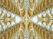 Gold abstract silk decoration